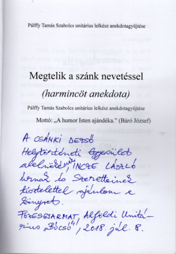 anekdota felállítása)